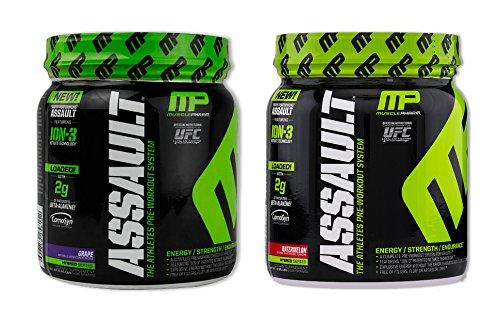 MusclePharm Assault Grape 30 serv/Watermelon 30 serv(1 of each) (Muscle Pharm Assault Grape compare prices)