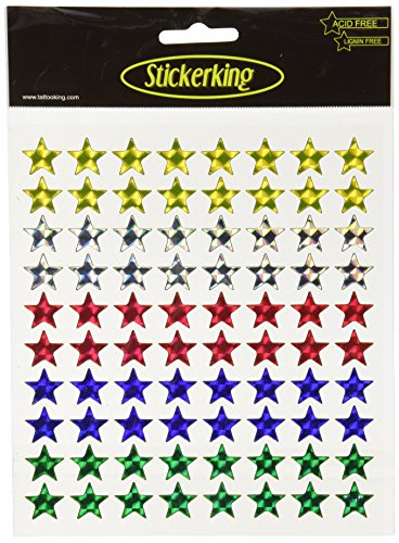 Multi-Colored Stickers-Stars