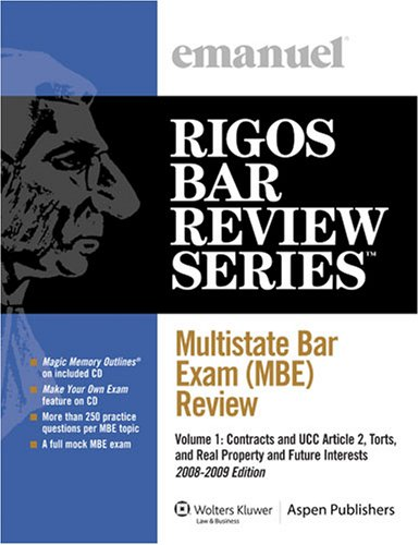 Multistate Bar Exam (MBE) Review Set (Emanuel's Rigos Bar Review Series)