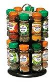 #7: Premier Housewares Pack 16 Bottles Schwartz Spices with Free 2-Tier Spice Rack, Black Chrome Effect