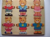 MRS MOODY BEAR WOODEN PLAY TRAY/PUZZLE LARGE