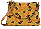 Snoogg seamless leaf pattern Womens Carry Around Sling Bags