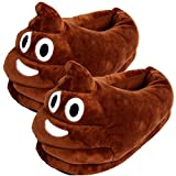 YINGGG Emoji Slippers Plush Fluffy House Shoes (Poop)