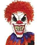 Smiffy's Scary Clown Mask with Hair - Adult