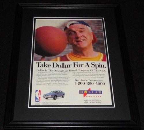 leslie-nielsen-1993-dollar-rent-a-car-11x14-framed-original-advertisement