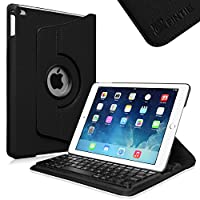Fintie iPad Air 2 Keyboard Case - 360 Degree Rotating Stand Cover with Built-in Wireless Bluetooth Keyboard for Apple iPad Air 2 (iPad 6) 2014 Model, Black by Fintie