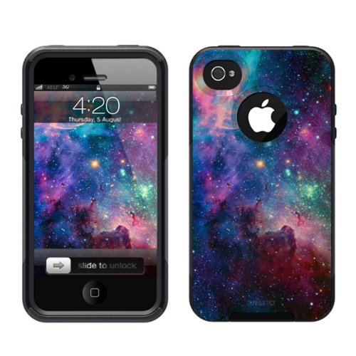 iPhone 4 /4S Case [Black] Galaxy Nebula [Dual Layer] UnnitoTM *1 Year Warranty* Case Protective [Custom] Commuter Protection Cover [Hybrid] (Iphone 4s Custom Case compare prices)