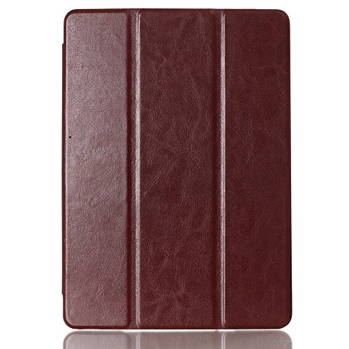 Generic Folding Tablet Leather Case Cover For Ipad Air 2 Ipad 6 2014 Color Coffee