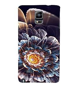 PrintVisa Flower Design 3D Hard Polycarbonate Designer Back Case Cover for Samsung Galaxy Note 4