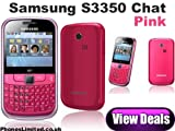 Samsung S3350 Chat 335 Pink unlocked Mobile Phone