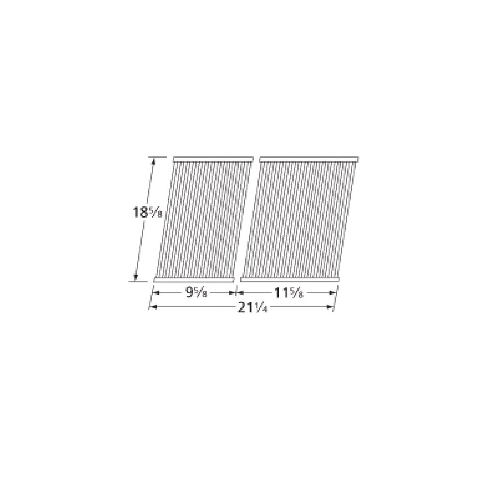 Music City Metals 529S2 Stainless Steel Tubes Cooking Grid Set Replacement for Select Centro and Cuisinart Gas Grill Models