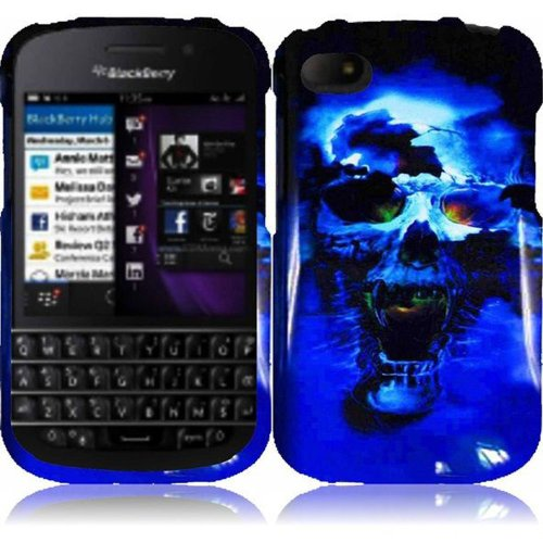 Cell Accessories For Less (Tm) For Blackberry Q10 Design Cover Case - Blue Skull // Free Shipping By Thetargetbuys