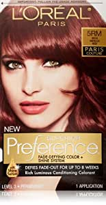 L'Oreal Preference Paris Couture Hair Color, 5RM Rich Merlot Red