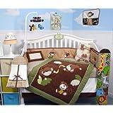Soho Playful Monkey Baby Crib Nursery Bedding Set  Pcs