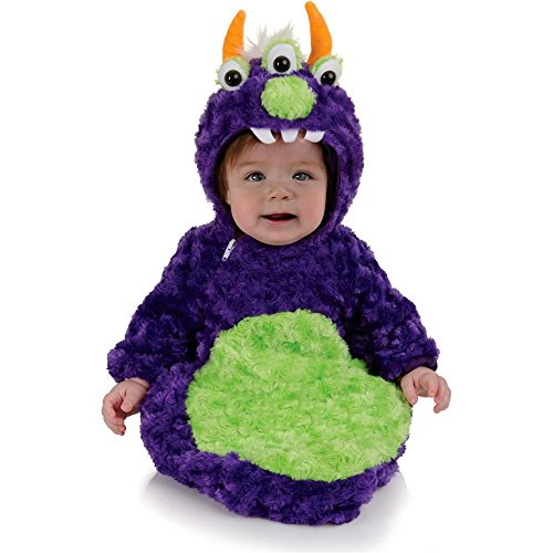 3-Eyed Monster Plush Belly Baby Bunting Costume - 0-6 Months