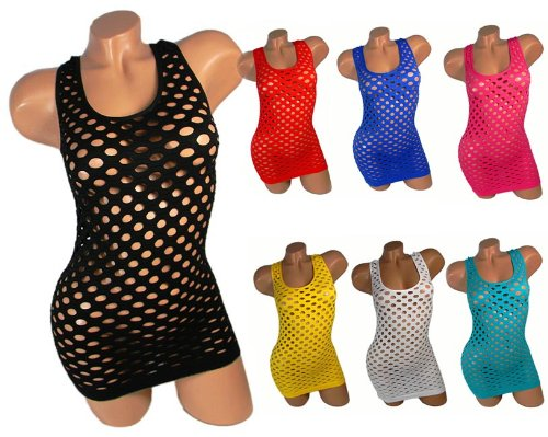 SEXY Netzshirt GoGo Netz Shirt TOP NEON FARBEN Clubwear PORNO Vm55