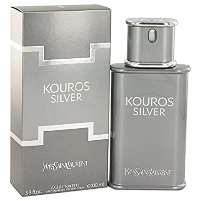 Yves Saint Laurent Kouros Silver Men's Eau de Toilette Spray, 3.4 Ounce