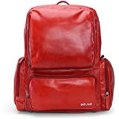 BRUNE Red Color 100% Genuine Leather Laptop Backpack For Men/Laptop Bags For Men/Leather Backpack For 13 Inch...