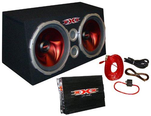 "New Xxx Car Audio 2) 15"" 1500W Subs/Car Amp Kit/Sub Box"