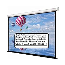 Inlight Wall Imported Autolock/Instalock Projector Screen, Size- - 92 Inches x 52 Inches, 106 Diagonal, In 16-9 Format(A+++++ GRADE, DOUBLE LAYER FABRIC PASTING)
