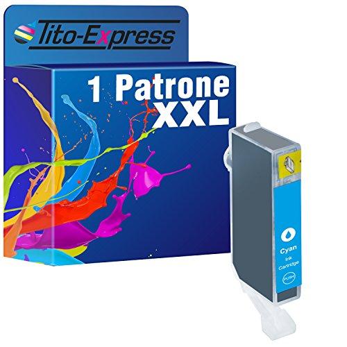 PlatinumSerie® 1 Druckerpatrone Tito-Platinum-Serie kompatibel für Canon CLI-521C Cyan, 12 ml XL-Tinteninhalt mit Chip und Füllstandsanzeige, z.B. kompatibel für Canon Pixma IP 3600,Canon Pixma MP 990,Canon Pixma MP 630,Canon Pixma MP 620,Canon Pixma MP 540,Canon Pixma IP 4600 X,Canon Pixma MX 860,Canon Pixma MP 560,Canon Pixma MX 870,Canon Pixma IP 4700,Canon Pixma MP 640,Canon Pixma MP 550,Canon Pixma MP 640 R,Canon Pixma MP 980,Canon Pixma IP 4600