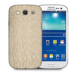 Snoogg Abstract Golden Feathers Printed Protective Phone Back Case Cover For Samsung S3 / S III