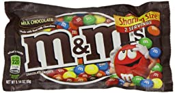 M&M\'s, Plain, Tear \'n Share Size, 3.14 oz