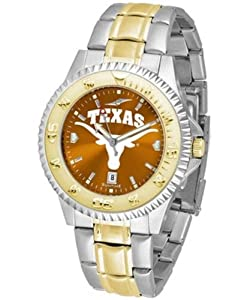 Texas Longhorns UT NCAA Mens Two-Tone Anochrome Watch by SunTime