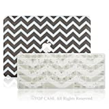 """TopCase 2 in 1 - Chevron Series Ultra Slim Light Weight Hard Case Cover Plus Matching Color Chevron Zig-Zag Keyboard Cover Skin for Macbook Pro 13-inch 13"""" (A1278/with or without Thunderbolt) - NOT for Retina Display - with TopCase Chevron Mouse Pad (Macbook Pro 13"""" Model: A1278, Gray)"""