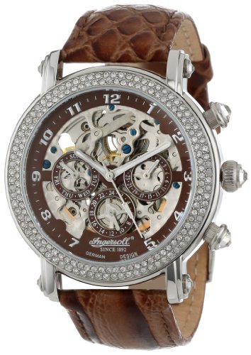 Ingersoll Women's IN7202BR Dream Fine Automatic Timepiece Brown Strap Watch