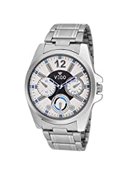 Vego White Color Analogue Watch For Men - B019PABMX4