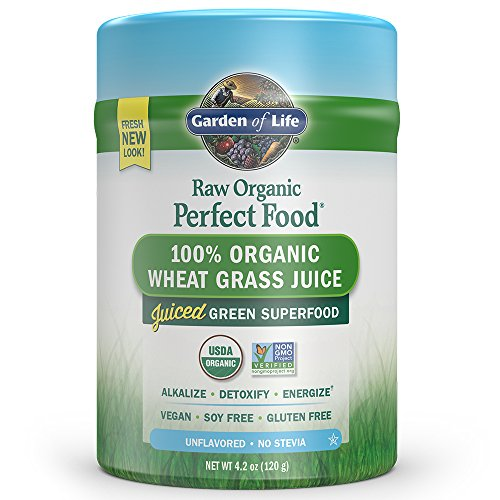 Garden of Life Raw Organic Perfect Food Wheat Grass 4.2oz (120g) Powder (Wheatgrass Organic Powder compare prices)