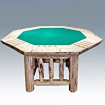 Hot Sale Montana Woodworks Poker Table in Clear Lacquer