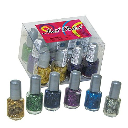Glitter Nail Polish - 12 Pack (Nail Polish Favors compare prices)