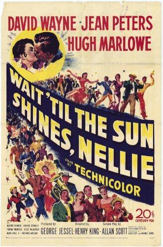 Attendere 'Til The Sun Poster film Nellie informale, In 11 17 x 28 cm x 44 cm, motivo: Jean Peters David Wayne Hugh Marlowe Albert Dekker