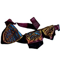 Silly yogi Pixie three pocket fanny pack Waist Belt Bag-Multi