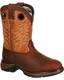 Durango Toddler-Boys\' Lil\' Raindrop Western Boot Round Toe Dark Brn 7.5 D(M) US