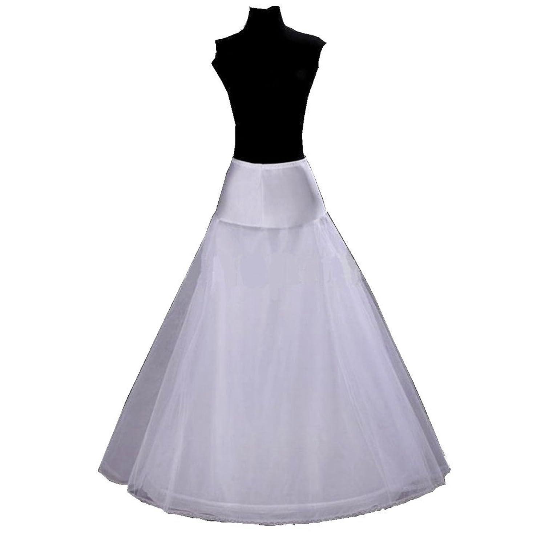 SwirlColor Weiß A-Line Brautkleid Brautkleid Krinoline Petticoat Petticoats Underskirt Slips