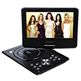 DBPOWER 9.5-Inch Portable DVD Player, 270 degree Swivel LCD Screen, USB, Analog Signal TV, SD Card, SWIVEL & Flip,VAG,CD,VCD,MP3,MP4,With Game CD+Game Controller