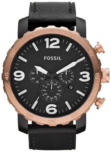 Fossil Men's JR1369 Stainless Steel Analog Black Dial Watch
