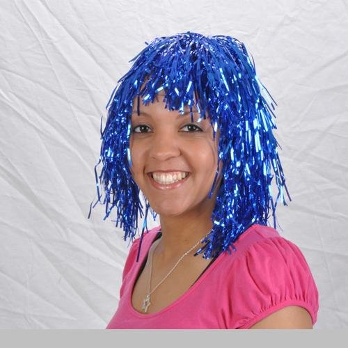 1 ~ Blue Tinsel Wig ~ New ~ Halloween Costume, Masquerade Party
