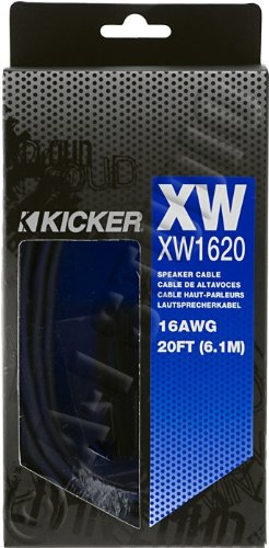 Kicker 09Xw1620 X-Series Twisted Pair Speaker Wire (16-Gauge, 20 Feet)