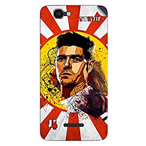 ezyPRNT Micormax Canvas 2 Colors A120 Steven Gerrard Football Player 2 mobile skin sticker