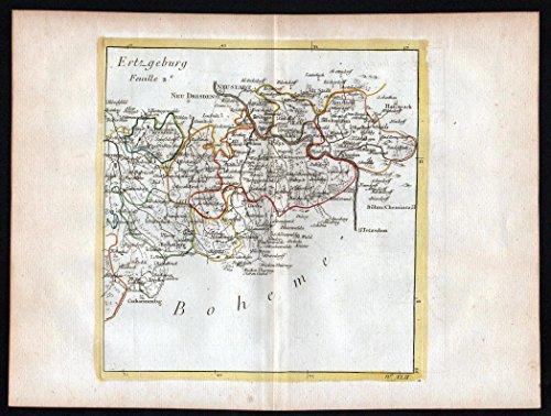 ertzgeburg-pirna-bad-schandau-glashutte-tharandt-dippoldiswalde-map-karte-le-rouge-kupferstich