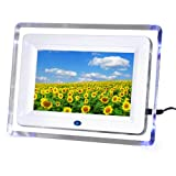 "DIGIFLEX 7"" White Digital Photo Frame with Blue Lights + 2GB SD Memory Cardby Digiflex"