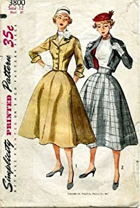 Simplicity 3800 Sewing Pattern Misses Two-Piece Suit Size 12 - Bust 30