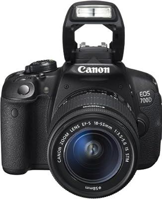 Canon EOS 700D SLR-Digitalkamera (18 Megapixel, 7,6 cm (3 Zoll) Touchscreen, Full HD, Live-View)