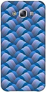 Snoogg Background Of Curled Blue Wave Designer Protective Back Case Cover For...
