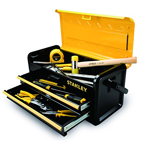 Stanley Tools and Consumer Storage STST19502 Metal Box with 2 Drawers, 19