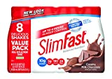 SlimFast Ready to Drink Bottles, Creamy Milk Chocolate Meal Replacement Shake, 11-Ounces, 8 Count